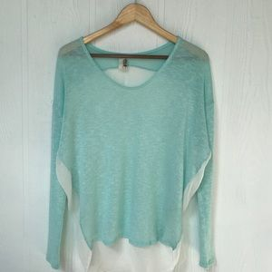 Anthropologie Scoopneck Sweater in Green, Size S
